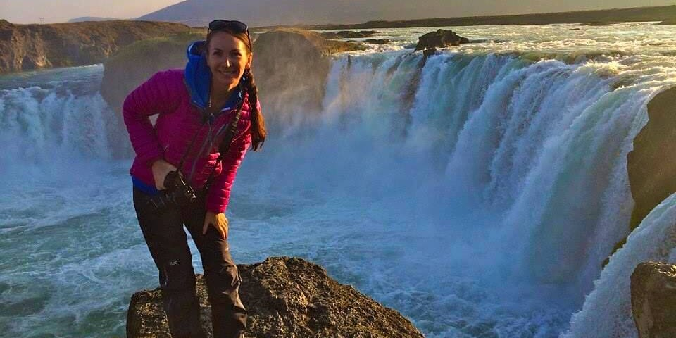 Melissa McGibbon at Godafoss