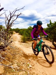 Melissa McGibbon mountain biking in Santa Fe